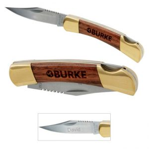 65010 Small Rosewood Pocketknife-Gold