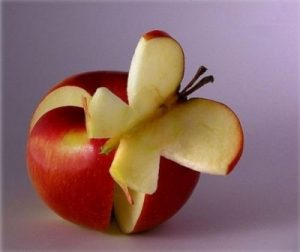Carved Apple Butterfly