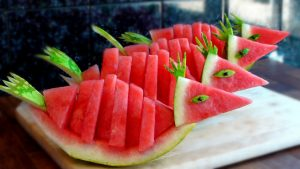 Carved Watermelon Fishes