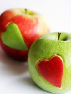 Fruit Knife Trick #1: Apples with Heart Cutout