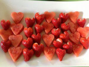 Fruit Knife Trick #2: Heart Strawberries & Watermelon